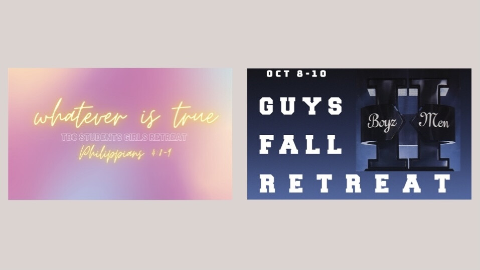 Girl's and Guy's Fall Retreat